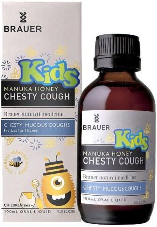 Review siro trị ho có đờm Brauer Kids Chesty Cough cho bé