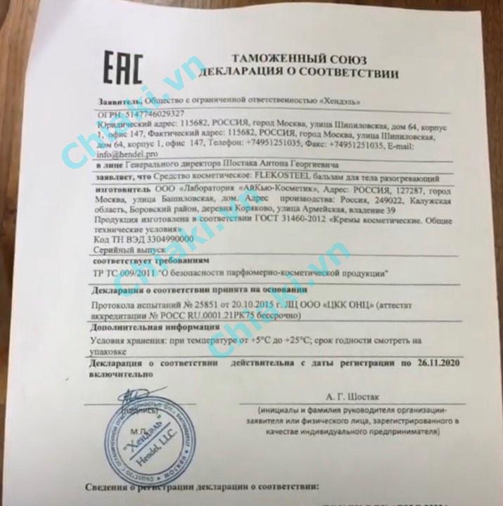 Flekosteel Của Nga 50ml Chính Hãng - Miễn Phí Vận Chuyển